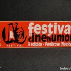 Cine: PEGATINA 1ª EDICION FESTIVAL DE CINE HUMOR - PANTICOSA AÑO. Lote 277521373