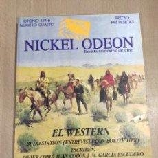 Cine: NICKEL ODEON. REVISTA TRIMESTRAL DE CINE. NÚMERO 4. EL WESTERN. Lote 277566403