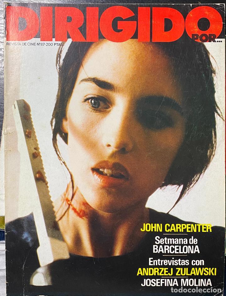 REVISTA DE CINE DIRIGIDO POR... N.º 87. NOVIEMBRE 1972. ENTREVISTAS CON ANDRZEJ ZULAWSKI (Cine - Revistas - Cine Mundial)