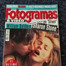 Cine: FOTOGRAMAS Nº 1800 AÑO 1993 - SHARON STONE - WILLIAM BALDWIN - SCHWARZENEGGER. Lote 277620803