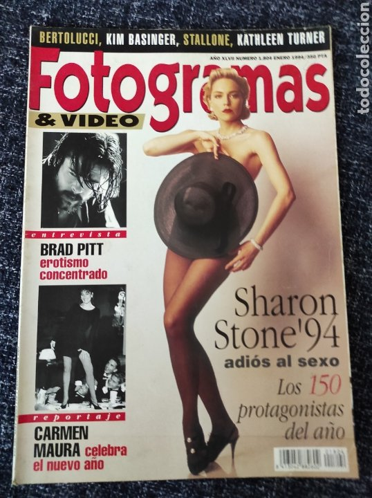 FOTOGRAMAS Nº 1804 AÑO 1994 - SHARON STONE - BRAD PITT - CARMEN MAURA - KIM BASINGER - STALLONE (Cine - Revistas - Fotogramas)