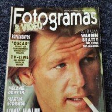 Cine: FOTOGRAMAS Nº 1784 ABRIL 1992 RICHARD GERE, MELANIE GRIFFTH, MARTIN SCORSESE.. Lote 277610068