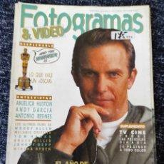 Cine: FOTOGRAMAS Nº 1773 ABRIL 1991 KEVIN COSTNER, ANJELICA HUSTON, CONTIENE LOS DOS SUPLEMENTOS. Lote 277611218