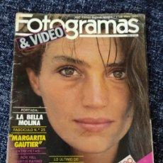 Cine: FOTOGRAMAS Nº 1708 MAYO 1985 ANGELA MOLINA, HARRISON FORD, MARILYN, GOLDIE HAWN. Lote 277612378