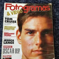Cine: FOTOGRAMAS Nº. 1762 ABRIL 1990 - TOM CRUISE / MICHELLE PFEIFFER / FERNANDO TRUEBA / JESSICA LANGE. Lote 277615473