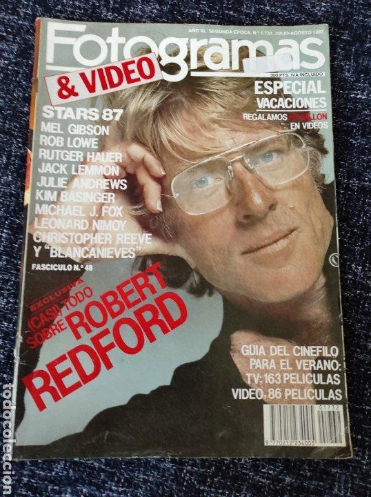 FOTOGRAMAS Nº. 1732 JULIO/AGOSTO 1987 ROBERT REDFORD, MEL GIBSON, ROB LOWE, JULIE AN. DIANE KEATON (Cine - Revistas - Fotogramas)