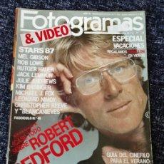 Cine: FOTOGRAMAS Nº. 1732 JULIO/AGOSTO 1987 ROBERT REDFORD, MEL GIBSON, ROB LOWE, JULIE AN. DIANE KEATON. Lote 277615788
