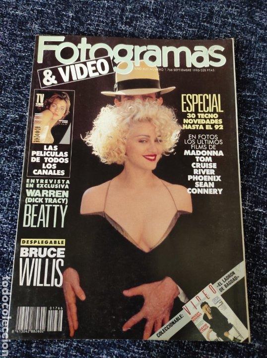 FOTOGRAMAS Nº 1766 AÑO 1990 MADONNA, JODIE FOSTER, BRUCE WILLIS (Cine - Revistas - Fotogramas)
