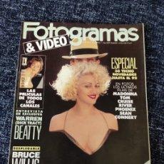 Cine: FOTOGRAMAS Nº 1766 AÑO 1990 MADONNA, JODIE FOSTER, BRUCE WILLIS. Lote 277617318