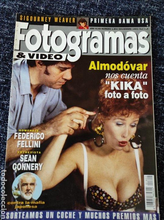 FOTOGRAMAS N° 1802 AÑO 1993 PEDRO ALMODÓVAR (KIKA), FEDERICO FELLINI, SEAN CONNERY, SIGOURNEY WEAVER (Cine - Revistas - Fotogramas)
