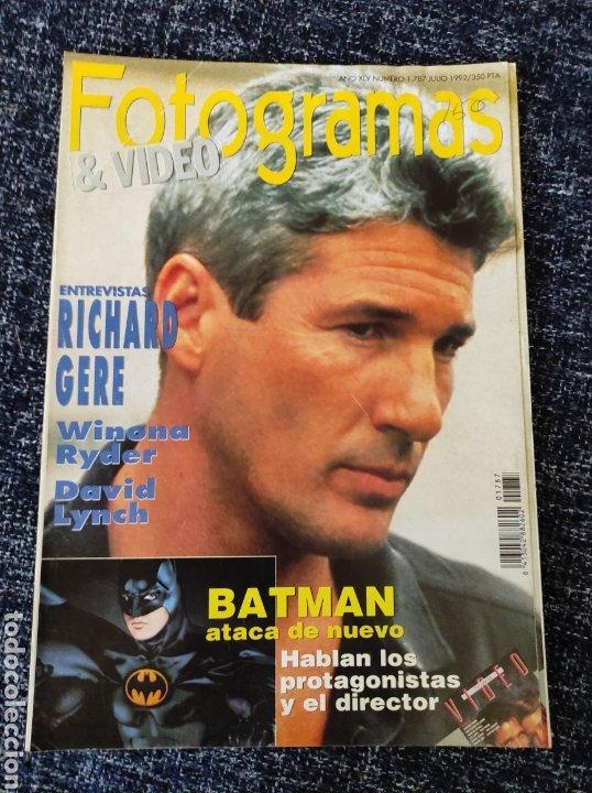 FOTOGRAMAS Nº 1787 AÑO 1992 RICHARD GERE WYNONA RYDER BATMAN, CARMEN SEVILLA (Cine - Revistas - Fotogramas)