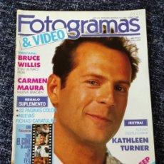 Cine: FOTOGRAMAS Nº. 1742 JUNIO 1988 - BRUCE WILLIS / CARMEN MAURA / DESPLEGABLE KATHLEEN TURNER. Lote 277618463