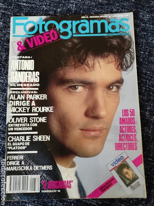 FOTOGRAMAS N° 1730 AÑO 1987 ANTONIO BANDERAS, ALAN PARKER, OLIVER STONE, CHARLIE SHEEN (Cine - Revistas - Fotogramas)