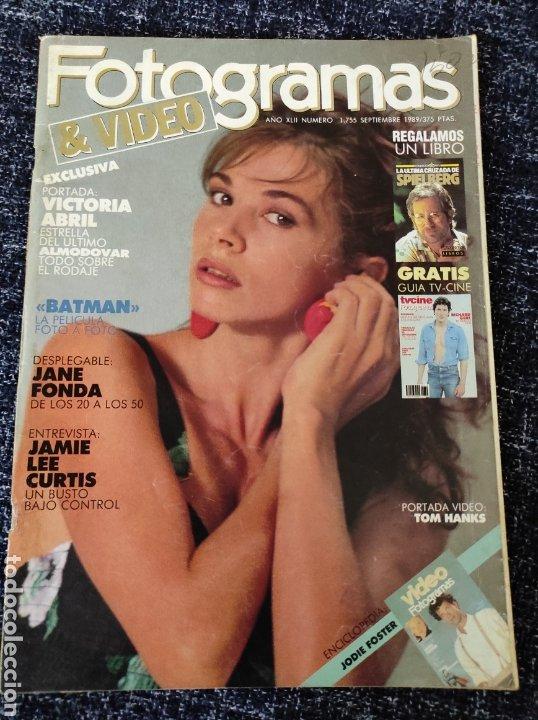 FOTOGRAMAS 1755, 1989 BATMAN, LAURENCE OLIVER, VICTORIA ABRIL, DESPLEGABLE JANE FONDA, JODIE FOSTER (Cine - Revistas - Fotogramas)