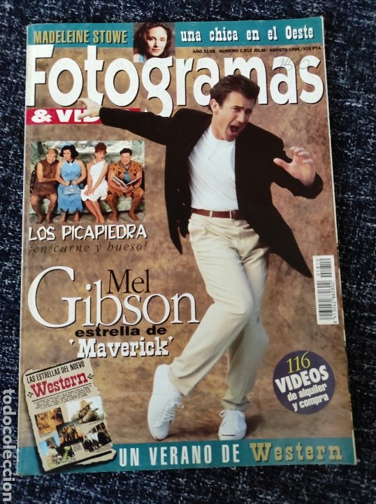 FOTOGRAMAS N° 1810 AÑO 1994 MEL GIBSON, MADELEINE STINE, LOS PICAPIEDRA (Cine - Revistas - Fotogramas)