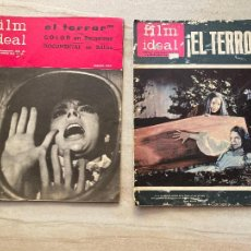 Cine: 2 NUMEROS FILM IDEAL. EL TERROR - 1965. Lote 277706488