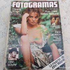 Cine: NUEVO FOTOGRAMAS Nº 1601, POSTER JOHN WAYNE, PACA GABALDON, 10 AÑOS TRINCANDO,. Lote 278191123
