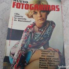 Cine: NUEVO FOTOGRAMAS Nº 1060, LA COMEDIA CON CHICAS, SONIA BRUNO, MARISA PAREDES, LOS MUSTANGS. Lote 278193253