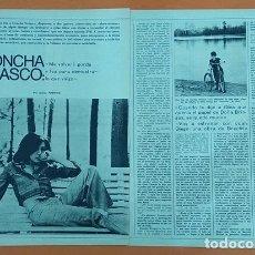 Cine: 29-3-1974 ENTREVISTA A CONCHA VELASCO CINE TORMENTO GALDÓS PEDRO OLEA ARTÍCULO DE PRENSA. Lote 278424823