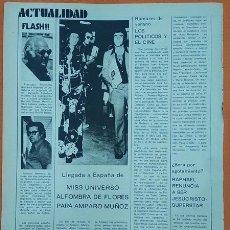 Cine: 30-8-1974 AMPARO MUÑOZ GANA EL CONCURSO DE MISS UNIVERSO EN MANILA ARTICULO DE PRENSA. Lote 278425578
