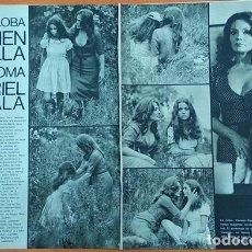 Cine: 30-8-1974 CARMEN SEVILLA Y MURIEL CATALÁ CINE LA LOBA Y LA PALOMA ARTICULO DE PRENSA. Lote 278426418