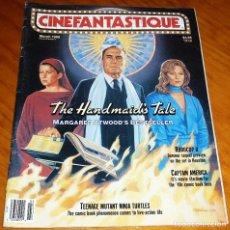 Cine: CINEFANTASTIQUE - MARZO 1990 - REVISTA CINE FANTÁSTICO Y TERROR - EN INGLÉS. Lote 278600218
