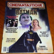 Cine: CINEFANTASTIQUE - NOVIEMBRE 1989 - BATMAN - REVISTA CINE FANTÁSTICO Y TERROR - EN INGLÉS. Lote 278602148