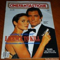 Cine: CINEFANTASTIQUE - JULIO 1989 - LICENSE TO KILL - REVISTA CINE FANTÁSTICO Y TERROR - EN INGLÉS. Lote 278603118