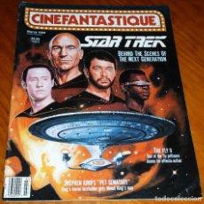 Cine: CINEFANTASTIQUE - MARZO 1989 - STAR TREK - REVISTA CINE FANTÁSTICO Y TERROR - EN INGLÉS. Lote 278604558
