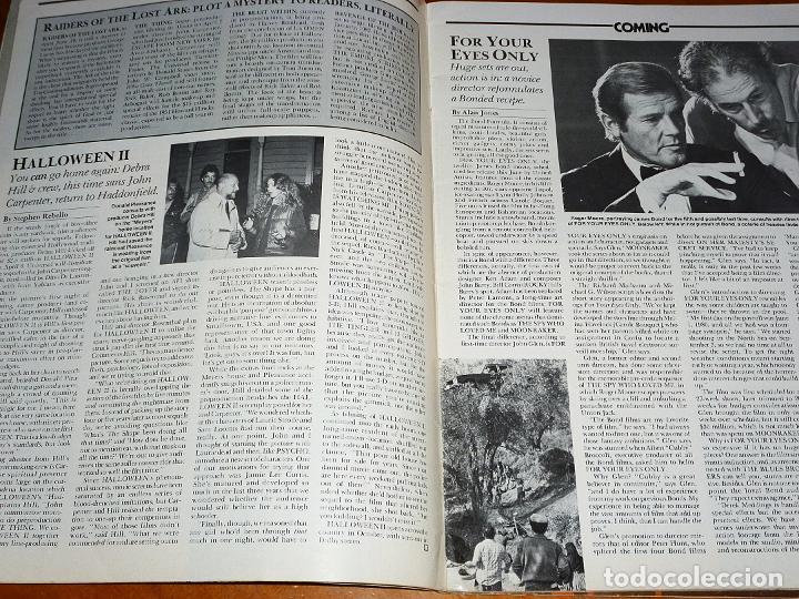 Cine: CINEFANTASTIQUE - OTOÑO FALL 1981 - ALTERED STATES - REVISTA CINE FANTÁSTICO Y TERROR - EN INGLÉS - Foto 2 - 278606373