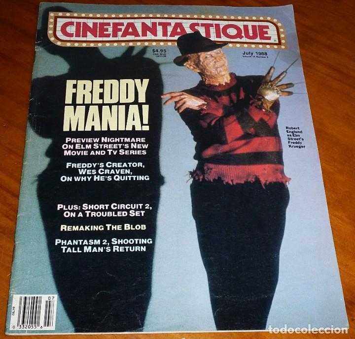 CINEFANTASTIQUE - JULIO 1988 - FREDDY KRUEGER - REVISTA CINE FANTÁSTICO Y TERROR - EN INGLÉS (Cine - Revistas - Otros)