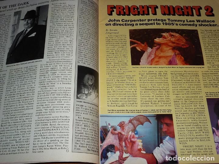 Cine: CINEFANTASTIQUE - JULIO 1988 - FREDDY KRUEGER - REVISTA CINE FANTÁSTICO Y TERROR - EN INGLÉS - Foto 2 - 278608888