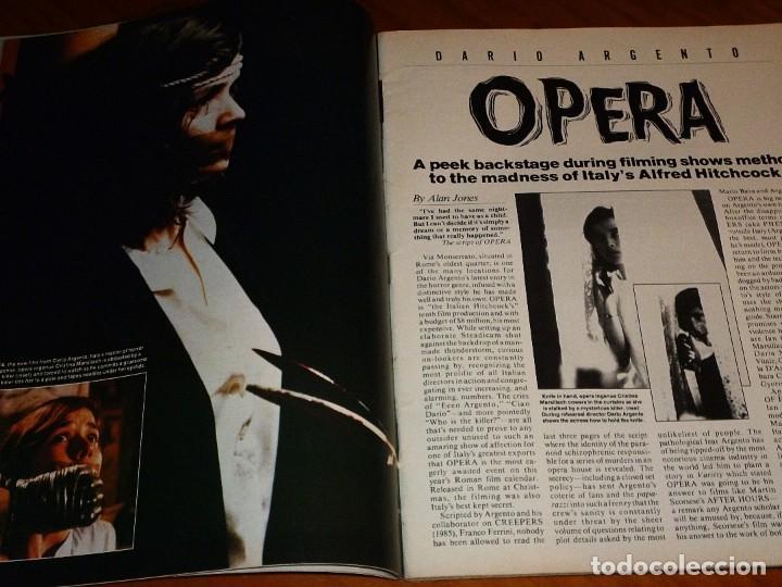 Cine: CINEFANTASTIQUE - MARZO 1988 - OPERA DARIO ARGENTO - REVISTA CINE FANTÁSTICO Y TERROR - EN INGLÉS - Foto 3 - 278611248