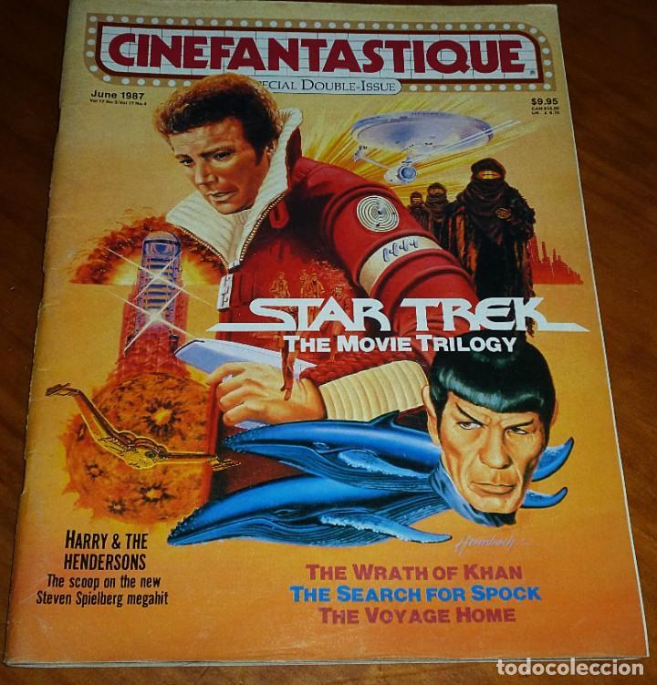 CINEFANTASTIQUE - JUNIO 1987 - STAR TREK TRILOGY - REVISTA CINE FANTÁSTICO Y TERROR - EN INGLÉS (Cine - Revistas - Otros)