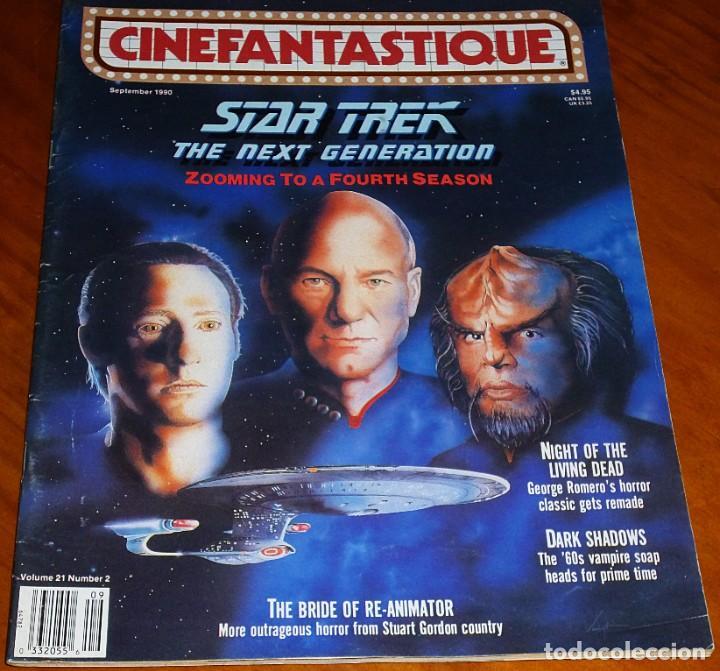 CINEFANTASTIQUE - SEPTIEMBRE 1990 - STAR TREK - REVISTA CINE FANTÁSTICO Y TERROR - EN INGLÉS (Cine - Revistas - Otros)