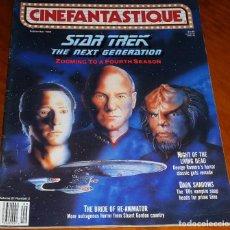 Cine: CINEFANTASTIQUE - SEPTIEMBRE 1990 - STAR TREK - REVISTA CINE FANTÁSTICO Y TERROR - EN INGLÉS. Lote 278615633