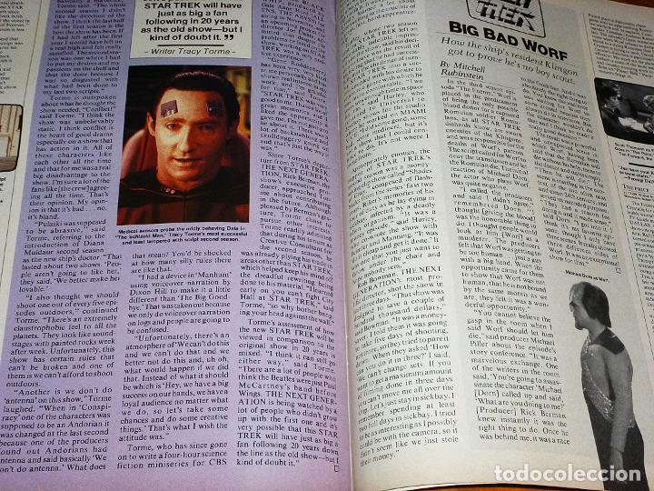 Cine: CINEFANTASTIQUE - SEPTIEMBRE 1990 - STAR TREK - REVISTA CINE FANTÁSTICO Y TERROR - EN INGLÉS - Foto 3 - 278615633