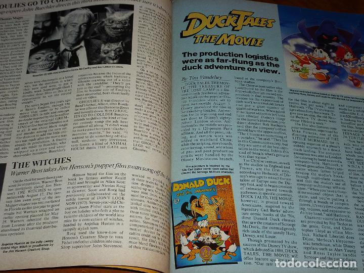 Cine: CINEFANTASTIQUE - SEPTIEMBRE 1990 - STAR TREK - REVISTA CINE FANTÁSTICO Y TERROR - EN INGLÉS - Foto 5 - 278615633