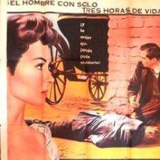 Cine: POSTER 3 HORAS PARA MORIR AFICHE ORIG DANA ANDREWS1954. Lote 278915768