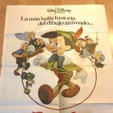 Cine: AFICHE DE CINE PELICULA PINOCHO WALT DISNEY ANOS 80. Lote 278915928