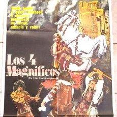 Cine: AFICHE CINE ORIGINAL LOS 4 MAGNIFICOS. Lote 278917028