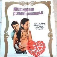 Cine: AFICHE CINE ORIGINAL CONTIGO PAN Y CAVIAR ROCK HUDSON. Lote 278917808