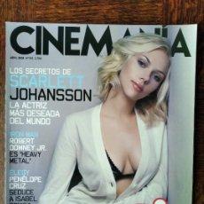 Cine: CINEMANIA Nº 151 DE 2008- SCARLETT JOHANSSON- PENELOPE CRUZ - IRON-MAN- MICHAEL GONDRY- COMEDIAS.... Lote 279383948