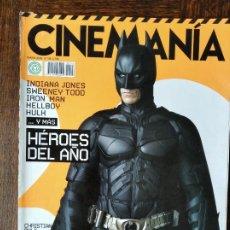 Cine: CINEMANIA Nº 148 DE 2008- BATMAN- HALLOWEEN- FERNAN GOMEZ- WES ANDERSON- AMERICAN GANGSTER- KEIRA KN. Lote 279402748