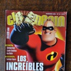 Cine: CINEMANIA Nº 111 DE 2004- LOS INCREIBLES- ANA BELEN- SANTIAGO SEGURA- CHRISTIAN BALE EL MAQUINISTA... Lote 279431183