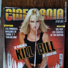 Cine: CINEMANIA Nº 102 DE 2004- KILL BILL VOL.1- PEDRO ALMODOVAR- BIG FISH- LOS GOYA ICIAR BOLLAIN- SHREK. Lote 279437353