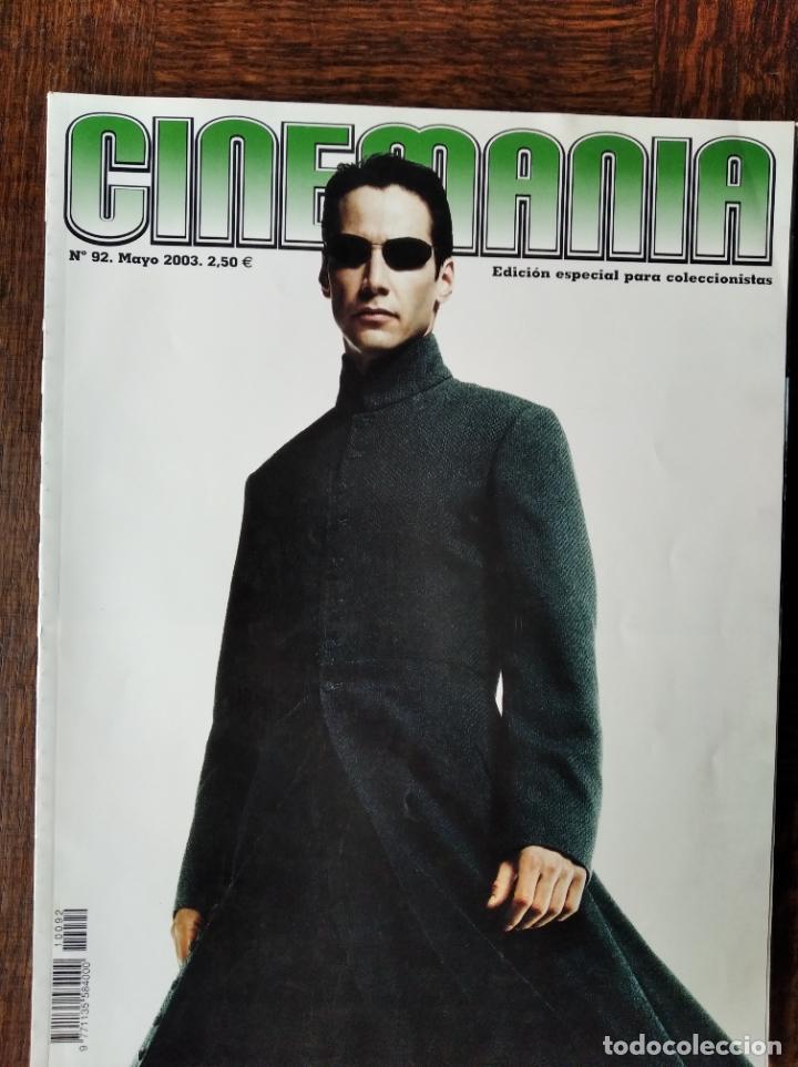 CINEMANIA Nº 92, 2003- MATRIX- DENZEL WASHINGTON- MARIBEL VERDU- JAVIER CAMARA- EDWARD NORTON- X-MEN (Cine - Revistas - Cinemanía)