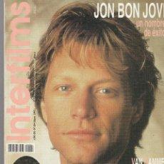 Cine: REVISTA INTERFIMS HOMBRE DE ÉXITO JON BON JOVI MAYO 1997 Nº 104 PAGINAS 130. Lote 280518498