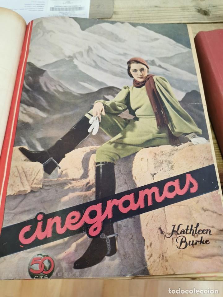 CINEGRAMAS, 1 TOMO CON 15 REVISTAS DE38/40 PÁGINAS, VER RELACION DE NUMEROS (Cine - Revistas - Cinegramas)