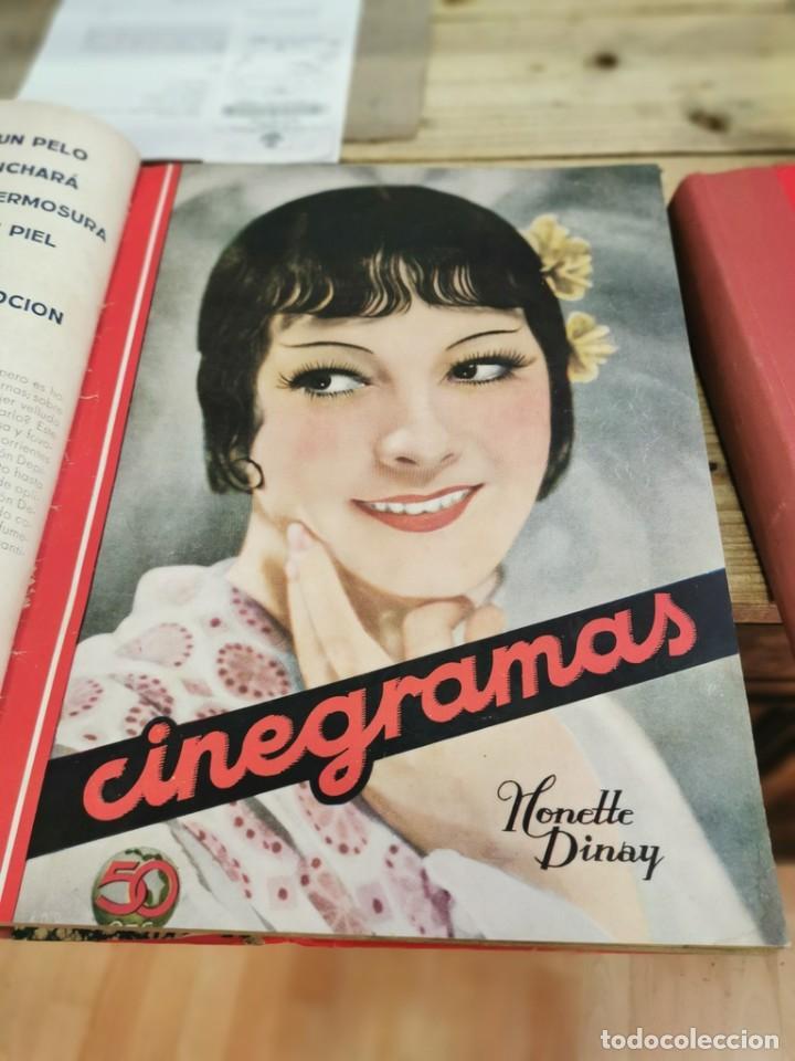 Cine: CINEGRAMAS, 1 TOMO CON 15 REVISTAS DE38/40 PÁGINAS, VER RELACION DE NUMEROS - Foto 4 - 280792628